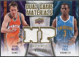 2009/10 Upper Deck Game Materials Dual Gold #DGNP Chris Paul Steve Nash /150