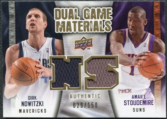 2009/10 Upper Deck Game Materials Dual Gold #DGNS Amare Stoudemire Dirk Nowitzki /150