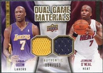 2009/10 Upper Deck Game Materials Dual Gold #DGON Jermaine O'Neal Lamar Odom /150