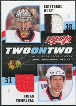 2009/10 Upper Deck MVP Two on Two Jerseys JCTHS Luke Schenn Vesa Toskala Brian Campbell Cristobal Huet