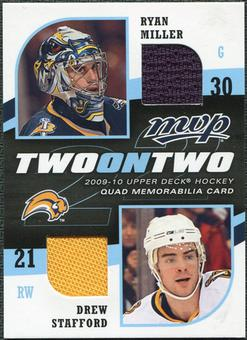 2009/10 Upper Deck Two on Two Jerseys #JTMSH Vesa Toskala Ryan Hollweg Drew Stafford Ryan Miller