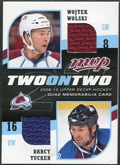 2009/10 Upper Deck MVP Two on Two Jerseys JTWCG Wojtek Wolski Darcy Tucker Sam Gagner Andrew Cogliano