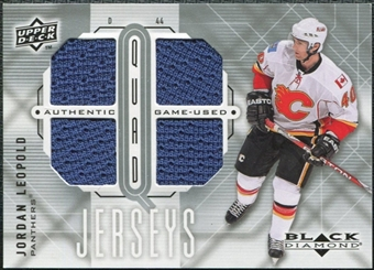 2009/10 Upper Deck Black Diamond Jerseys Quad #QJJL Jordan Leopold