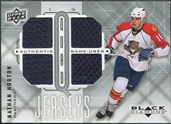 2009/10 Upper Deck Black Diamond Jerseys Quad #QJNH Nathan Horton