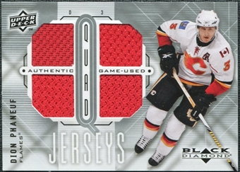 2009/10 Upper Deck Black Diamond Jerseys Quad #QJPH Dion Phaneuf