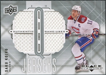 2009/10 Upper Deck Black Diamond Jerseys Quad #QJSK Saku Koivu