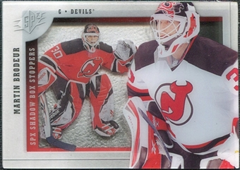 2009/10 Upper Deck SPx Shadowbox Stoppers #ST1 Martin Brodeur