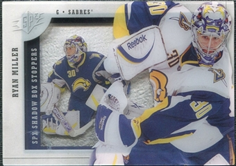 2009/10 Upper Deck SPx Shadowbox Stoppers #ST12 Ryan Miller