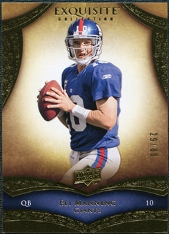 2009 Upper Deck Exquisite Collection #2 Eli Manning /80