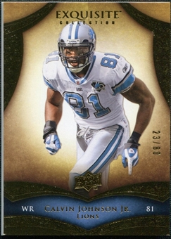 2009 Upper Deck Exquisite Collection #35 Calvin Johnson /80
