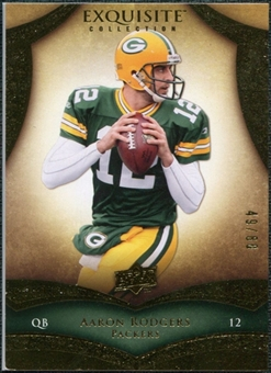 2009 Upper Deck Exquisite Collection #47 Aaron Rodgers 49/80