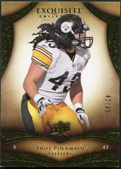 2009 Upper Deck Exquisite Collection #63 Troy Polamalu /80