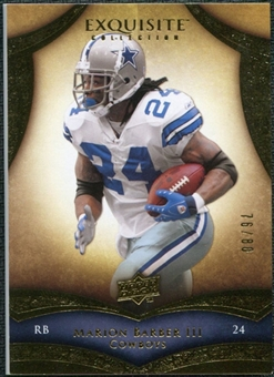 2009 Upper Deck Exquisite Collection #65 Marion Barber /80