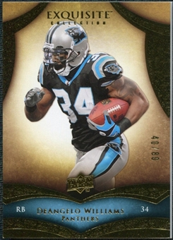 2009 Upper Deck Exquisite Collection #76 DeAngelo Williams /80