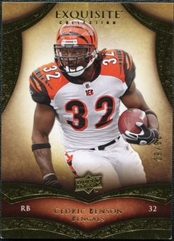 2009 Upper Deck Exquisite Collection #81 Cedric Benson /80