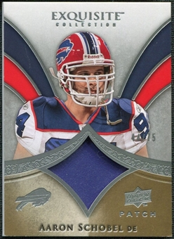 2009 Upper Deck Exquisite Collection Patch #PAS Aaron Schobel /75