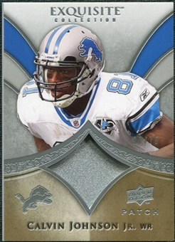 2009 Upper Deck Exquisite Collection Patch #PCJ Calvin Johnson /75