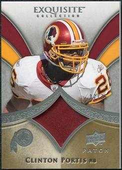 2009 Upper Deck Exquisite Collection Patch #PCP Clinton Portis /75