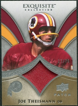 2009 Upper Deck Exquisite Collection Patch #PJT Joe Theismann /75