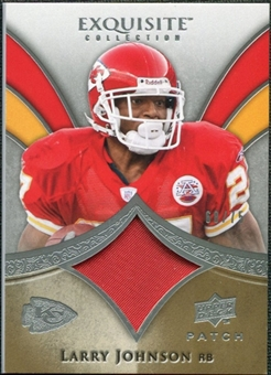 2009 Upper Deck Exquisite Collection Patch #PLJ Larry Johnson /75