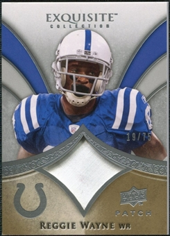 2009 Upper Deck Exquisite Collection Patch #PRW Reggie Wayne /75