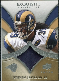 2009 Upper Deck Exquisite Collection Patch #PSJ Steven Jackson /75