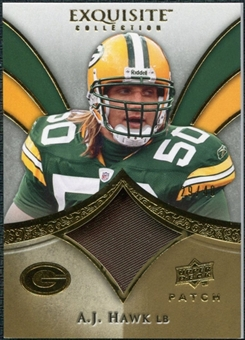 2009 Upper Deck Exquisite Collection Patch Gold #PAH A.J. Hawk /40
