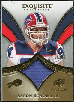 2009 Upper Deck Exquisite Collection Patch Gold #PAS Aaron Schobel /40