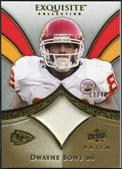 2009 Upper Deck Exquisite Collection Patch Gold #PBO Dwayne Bowe /40