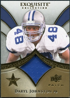 2009 Upper Deck Exquisite Collection Patch Gold #PDJ Daryl Johnston 21/40