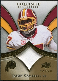 2009 Upper Deck Exquisite Collection Patch Gold #PJC Jason Campbell /40