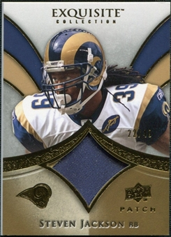 2009 Upper Deck Exquisite Collection Patch Gold #PSJ Steven Jackson 22/40
