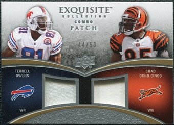 2009 Upper Deck Exquisite Collection Patch Combos #OJ Chad Johnson Terrell Owens 44/50