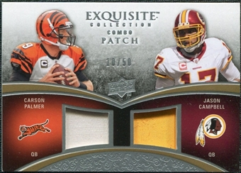 2009 Upper Deck Exquisite Collection Patch Combos #PC Carson Palmer Jason Campbell /50