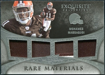 2009 Upper Deck Exquisite Collection Rare Materials #4MM Mohamed Massaquoi /35