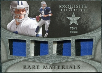 2009 Upper Deck Exquisite Collection Rare Materials #4TR Tony Romo /35
