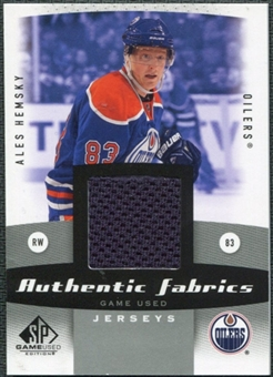 2010/11 Upper Deck SP Game Used Authentic Fabrics #AFAH Ales Hemsky