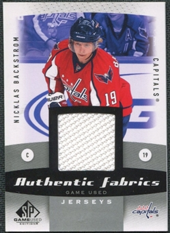 2010/11 Upper Deck SP Game Used Authentic Fabrics #AFBA Nicklas Backstrom