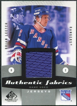 2010/11 Upper Deck SP Game Used Authentic Fabrics #AFBL Brian Leetch