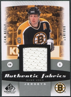 2010/11 Upper Deck SP Game Used Authentic Fabrics #AFCN Cam Neely