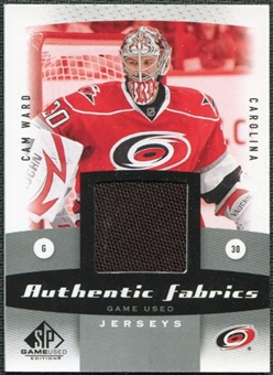 2010/11 Upper Deck SP Game Used Authentic Fabrics #AFCW Cam Ward