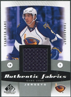 2010/11 Upper Deck SP Game Used Authentic Fabrics #AFEK Evander Kane