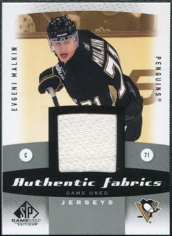 2010/11 Upper Deck SP Game Used Authentic Fabrics #AFEM Evgeni Malkin
