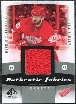 2010/11 Upper Deck SP Game Used Authentic Fabrics #AFHZ Henrik Zetterberg