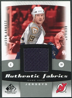 2010/11 Upper Deck SP Game Used Authentic Fabrics #AFJA Jason Arnott