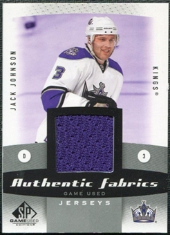 2010/11 Upper Deck SP Game Used Authentic Fabrics #AFJJ Jack Johnson