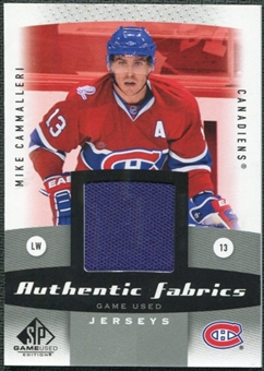 2010/11 Upper Deck SP Game Used Authentic Fabrics #AFMC Mike Cammalleri