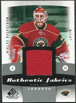 2010/11 Upper Deck SP Game Used Authentic Fabrics #AFNB Niklas Backstrom