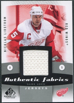 2010/11 Upper Deck SP Game Used Authentic Fabrics #AFNL Nicklas Lidstrom