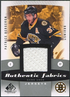 2010/11 Upper Deck SP Game Used Authentic Fabrics #AFPB Patrice Bergeron